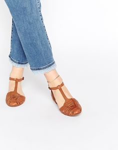 New+Look+Weave+Flat+Sandal
