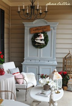 Dear Lillie: The Rest of Our RED Christmas Porch