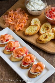 Discover ways to make crostini in lower than 30 minutes! These smoked salmon crostini. Discover ways to make crostini in lower than 30 minutes! These smoked salmon crostini are the only, but most flavorful appetizer you may provide on th. Appetizers For Party, Appetizer Recipes, Canapes Recipes, Christmas Appetizers, Healthy Appetizers, Canapes Ideas, Nibbles For Party, Prosciutto Recipes, Popular Appetizers