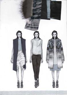 Fashion Sketchbook - fashion design drawings & fabrics; fashion portfolio layout; graduate collection development // Amy Dee