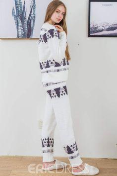 af48bfb022 Ericdress Christmas Tree Print Simple Sleepwear for Women
