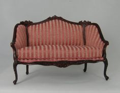 Rose Striped Settee - this is the fabric on our LR sofa