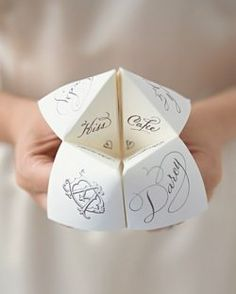 Paper fortune tellers!....the kids all made these in the 60's and 70's.