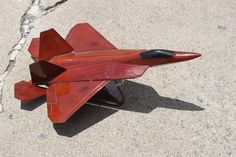 Wooden Mid-Century Model Plane by TimesTinCup on Etsy