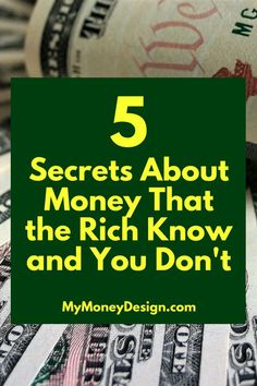 """How is it that the """"Rich"""" become rich? What are the secrets to money that they seem to know and the rest of us don't? In this post, we're going to take a look at some of their best-working strategies and learn how we can use them in our own lives.  Read on to find out more - MyMoneyDesign.com"""