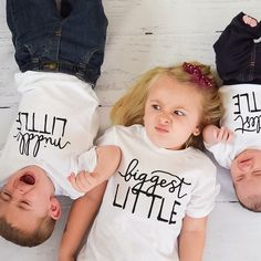 Funny sibling christmas card pics. Matching sibling tees - Little Faces Apparel.