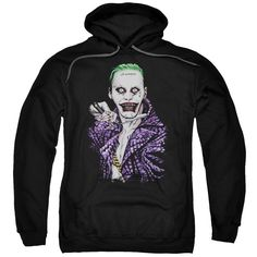 Suicide Squad Blade Adult Hoodie - Black - Officially Licensed - High Quality - 75% Cotton / 25% Polyester Blend - Premium Ringspun Cotton - Double-Needle Cuffs - Pouch Pocket Also Available in: Adult