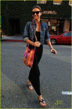 Black maxi dress + denim jacket.