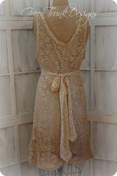 Crochet Dress Boho Wedding Dress / Country от GreenTrunkDesigns