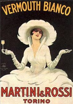Vintage Vermouth Bianco ~ Martini & Rossi Adv.