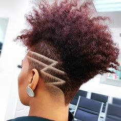Short Curly Hair, Short Hair Cuts, Curly Hair Styles, Natural Hair Styles, Short Hair Designs, Shaved Hair Designs, Shaved Side Hairstyles, Dope Hairstyles, Elegant Hairstyles