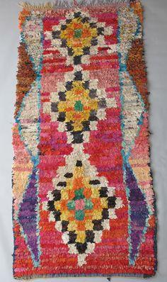 Boucherouite rug.