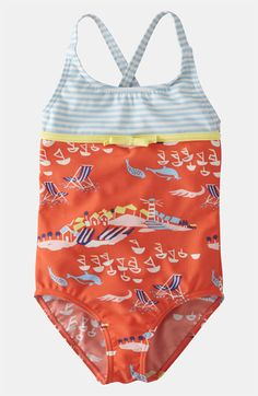 Mini Boden One Piece Swimsuit (Little Girls & Big Girls) available at #Nordstrom