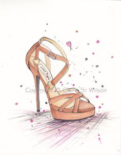 Jimmy Choo Sandal  Art Print 8x10 by claireswilson on Etsy, $20.00