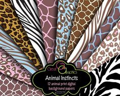 printable animal print backgrounds from my Great Graphics website