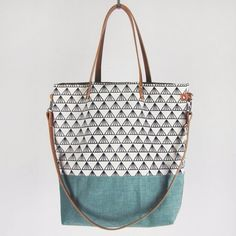 Tasche ELIN PRINT // mint
