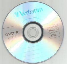 5Pcs Verbatim DVD Silver DVD-R