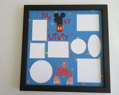 Disney Themed First Visit Vacation Picture Frame Collage Photo Frames Mickey Mouse Disney World Disneyland Multi Photo Home Decor Gift Disney Frames, Disney Collage, Collage Picture Frames, Collage Photo, Mickey Mouse Frame, Disney Home Decor, Multi Photo, Vacation Pictures, Blue Glitter