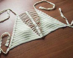 Crochet bikini Halter Bikini Top Bathing Suit by LoveKnittings