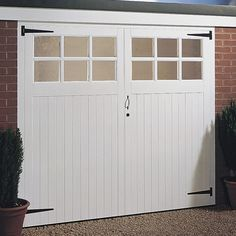 Side Hung Garage Door Pair, (H)2134mm (W)2134mm | Departments | DIY at B&Q