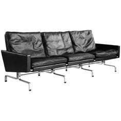 Poul Kjaerholm PK 31-3 Sofa for E. Kold Christensen | From a unique collection of antique and modern sofas at https://www.1stdibs.com/furniture/seating/sofas/
