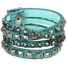 Leatherock B340-F185 (Jade) Bracelet (87 CAD) ❤ liked on Polyvore featuring jewelry, bracelets, jade bangle, jade jewelry, jade jewellery, cuff bangle and cuff bracelet