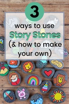 These DIY Alphabet Story Stones are easy to make and a fabulous resources to have on hand when teaching the alphabet to young kids. Indoor Activities For Toddlers, Toddler Learning Activities, Alphabet Activities, Preschool Activities, Kids Alphabet, Toddler Games, Toddler Fun, Summer Activities, Family Activities