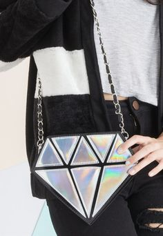 Free Shipping Diamond Hologram Bag by PoppyLovers on Etsy