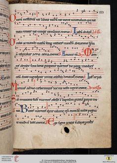 Antiphonarium Cisterciense Salem, um 1200 Cod. Sal. X,6b  Folio 113r
