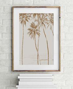 Palm Tree  PRINTABLE FILE. Tropical Palm Art Print. by ILKADesign