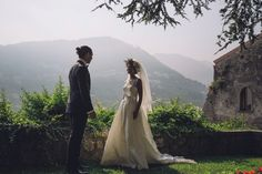 Bride and Groom from a Chic and Elegant Amalfi Coast Wedding | Photography by http://www.roncaglioneweddingphotographers.com/