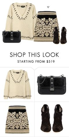 """""""Bez naslova #3983"""" by lillyrosalie ❤ liked on Polyvore featuring Isabel Marant, Valentino, For Love & Lemons and Dolce&Gabbana"""