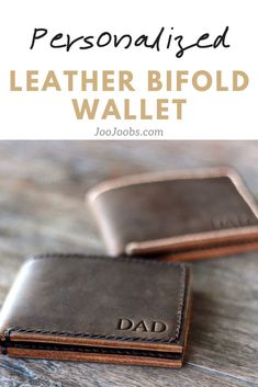 This handmade leather bifold wallet is made from the best distressed leather available