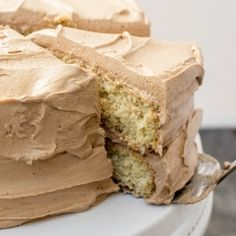 Cinnamon Cake with Chile Chocolate Buttercream: A light and airy cinnamon cake frosted with the fluffiest, creamiest chile chocolate buttercream.