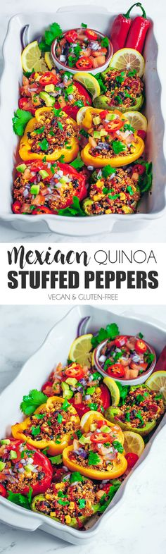 Mexican Quinoa Stuffed Peppers - UK Health Blog - Nadia's Healthy Kitchen