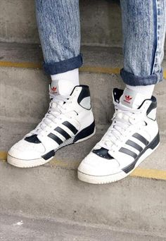 adidas retro high top sneakers
