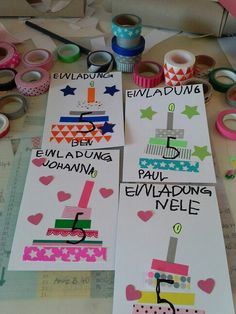 Make your birthday invitations yourself! You are in the right place about Diy Birthday scrapbook Her Cumpleaños Diy, Easy Diy Crafts, Crafts For Kids, Happy Birthday Cards, Birthday Greeting Cards, It's Your Birthday, Card Birthday, 5th Birthday, Birthday Ideas