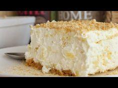 Εύκολο και Δροσερό Γλυκό με Ανανά (Γρήγορο και Οικονομικό) - Pineapple Dessert - YouTube Custard, Vanilla Cake, Cheesecake, Food And Drink, Sweets, Cream, Desserts, Recipes, Youtube