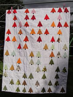 Little Forest Quilt by Mandy, based on a design by Sharilyn Wright and featured on her Flickr stream.