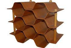 Scandinavian Molded Plywood Wine Rack