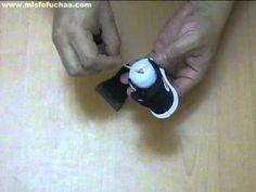 Cómo hacer zapatos en foami para fofuchas - Converse all star parte 3 - YouTube