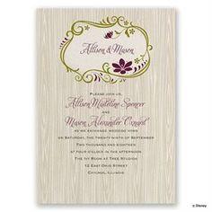 Purple Wedding Invitations:  Disney Natural Beauty Invitation Anna