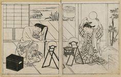 Nishikawa Sukenobu - Title:Two courtesans: