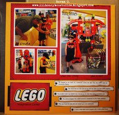 lego scrapbook page ideas | Legos are still high on wish list this year.