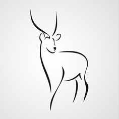 L - Drawing İdeas Outline Drawings, Pencil Art Drawings, Doodle Drawings, Easy Drawings, Doodle Art, Art Sketches, Deer Art, Wood Burning Patterns, Simple Art