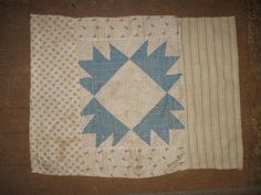 sweet blue and white doll quilt