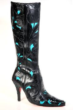 "Boots - Cock of the Walk - CUSTOM ""COCK OF THE WALK"" STILETTO BOOTS! - DoubleDRanch