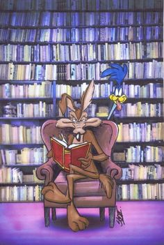 Wile E Coyote at the library by Bjnix248.deviantart.com on @DeviantArt