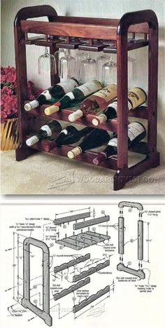 Showcase Wine Rack Plans - Furniture Plans and Projects | WoodArchivist.com