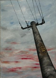 Very old pillar, acrylic painting cm from www. Nature Paintings, Utility Pole, Paintings Of Nature, Nature Drawing